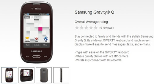 T-Mobile Will Offer Samsung Gravity Q For Its Prepaid Subscribers