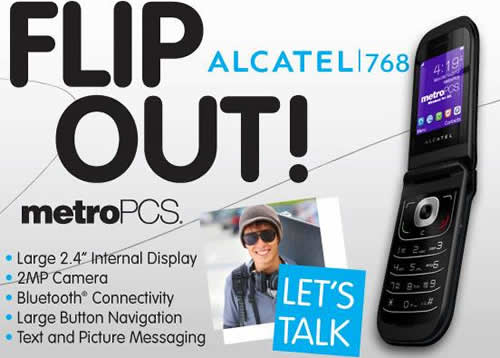 MetroPCS Recently Introduces the Alcatel 768