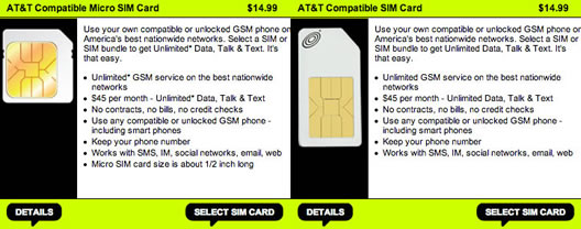 StraightTalk Re-Launch AT&T-Compatible SIM Cards for Prepaid